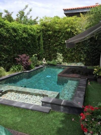 piscine paysagé en autoconstruction