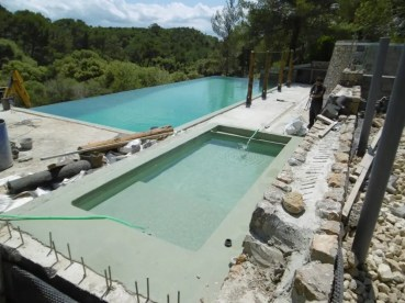 Pool nearly finished