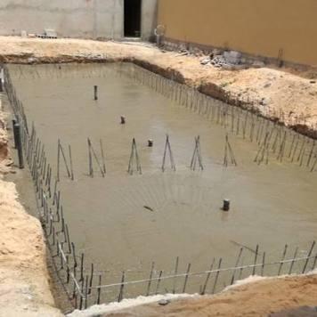 Coulage radier piscine débordement Nouakchott
