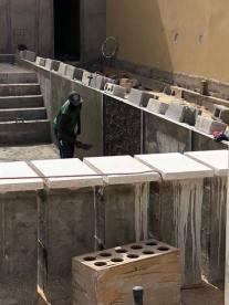 Coffrage débordement cascade 16 m. de long piscine Nouakchott