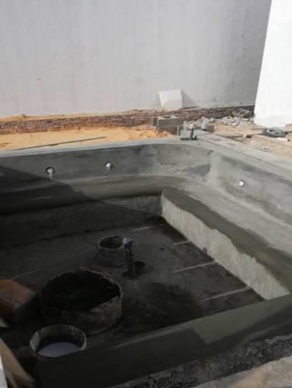 Banc jacuzzi pour 6 personnes piscine débordement Nouakchott