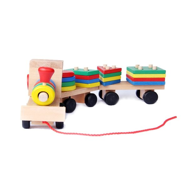 Kid's Wooden Train Montessori Toy 1