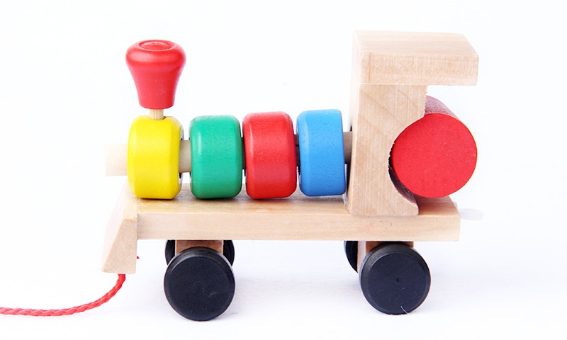 Kid's Wooden Train Montessori Toy