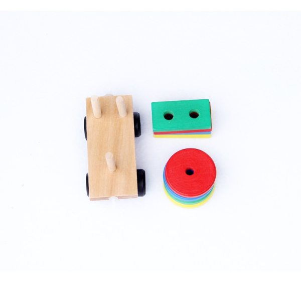 Kid's Wooden Train Montessori Toy 6
