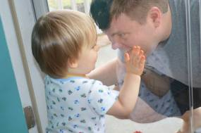 He loves his daddy! <3