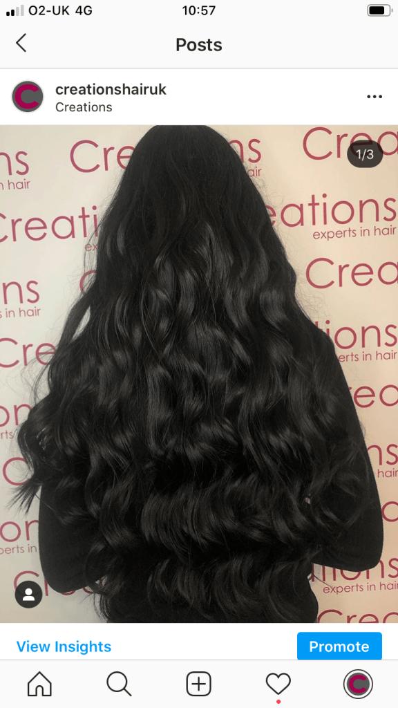 Dark Black long curls