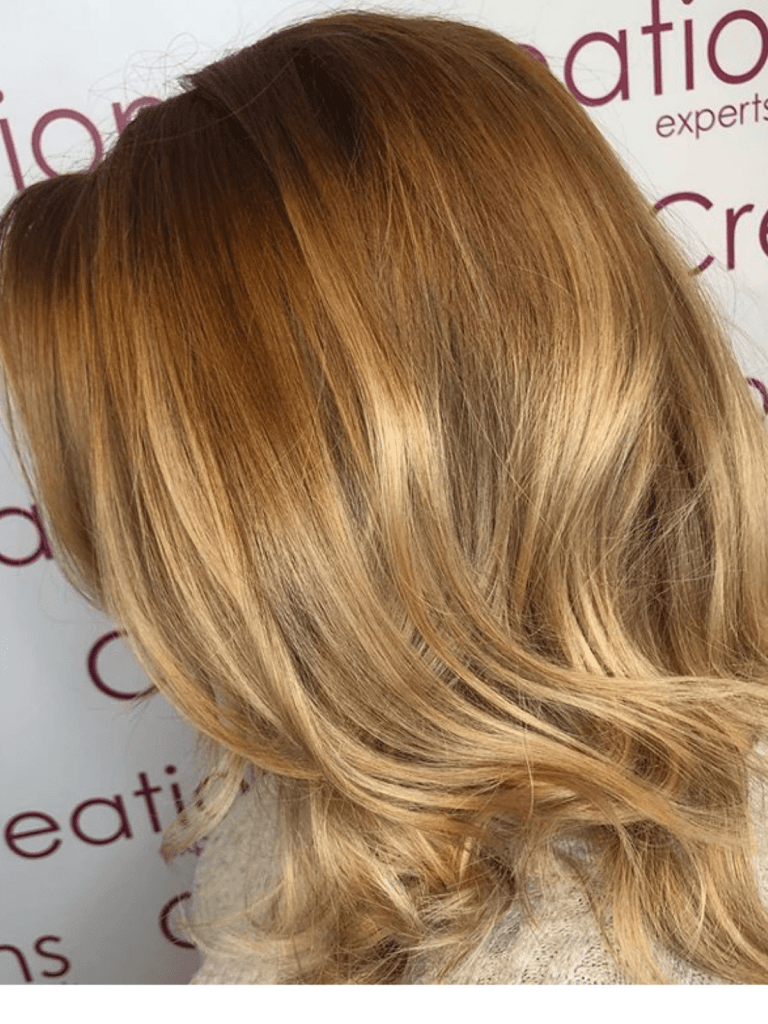 Soft Warm Blonde Ombre