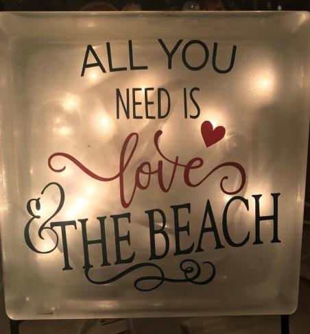 love and beach love light