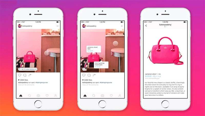 etiquetado de productos, instagram shopping