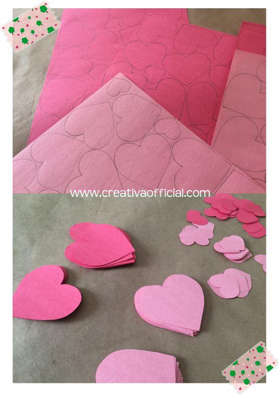 C mo hacer un rbol de corazones de papel creativa official - Como hacer un arbol de papel grande ...