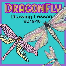 D19-18 Dragonfly SQUARE