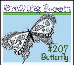 Drawing BUTTERFLY Square