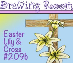 Drawing CROSS & LILY Square