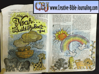 Jackie's Hey Noah, Build a Boat Bible Journaling