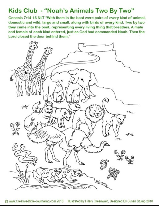Noah coloring page 1 Hilary