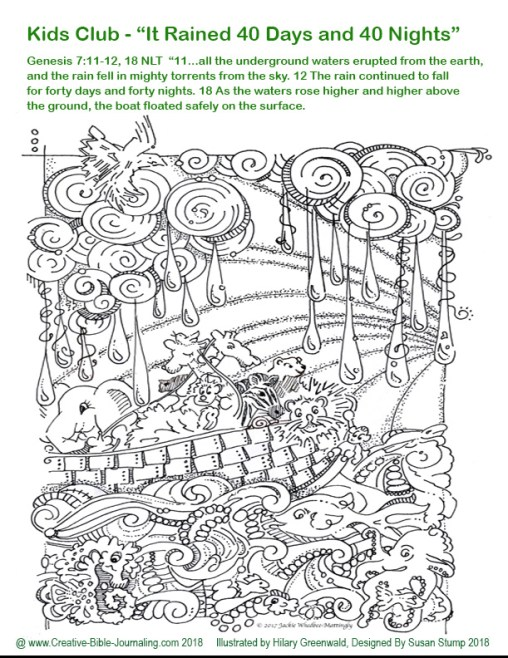 Noah coloring page 2 Jackie