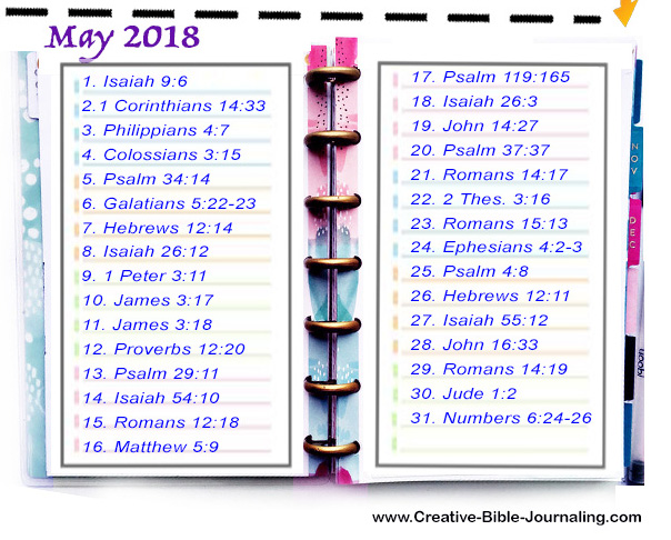 Scripture Writing Planner – May 2018 – Creative-Bible