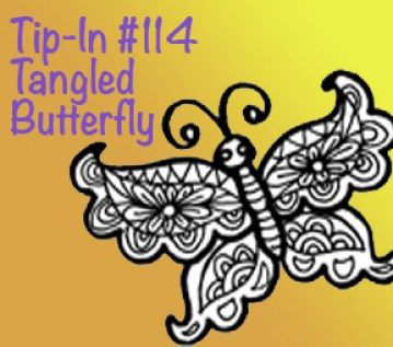 Tip-In #114 Tangled Butterfly Square