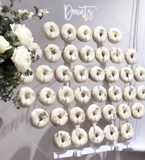 Donut wall and lolly carts for wedding