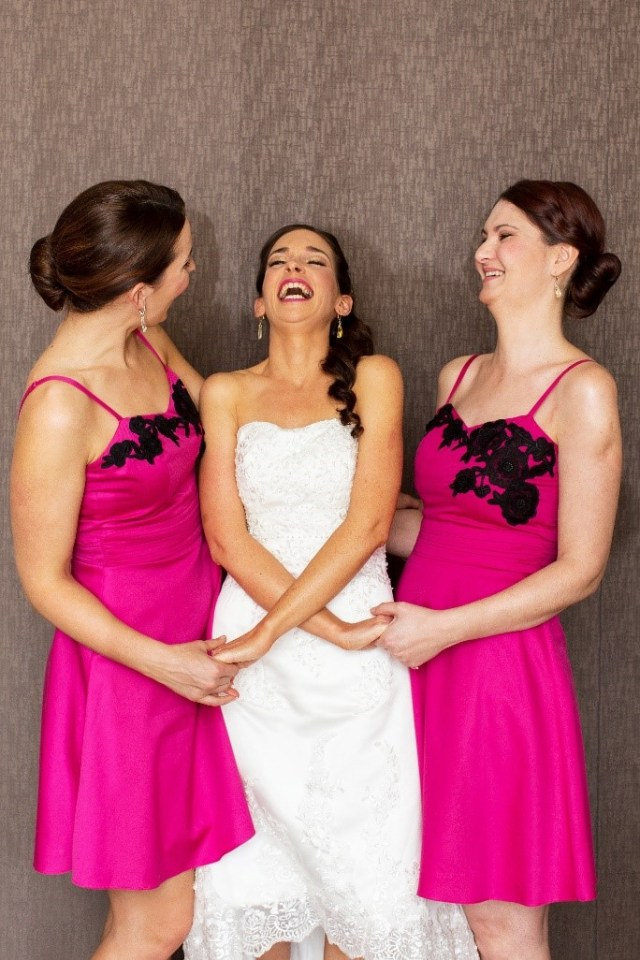 Having a laugh on your wedding day will make you feel more relaxed