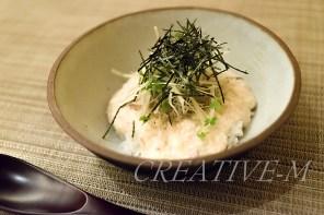 ディナー出張撮影:豆腐のしらす丼