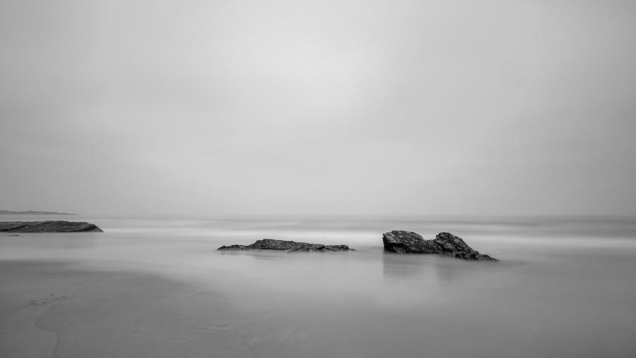Black & white landscape photo taken in Galicia, Spain