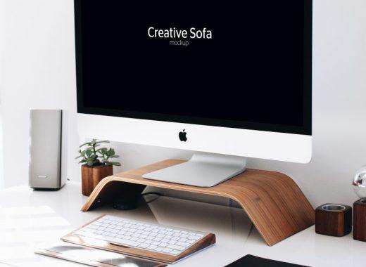 iMac Free Perspective Mockup