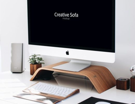 iMac Free Perspective Mockup