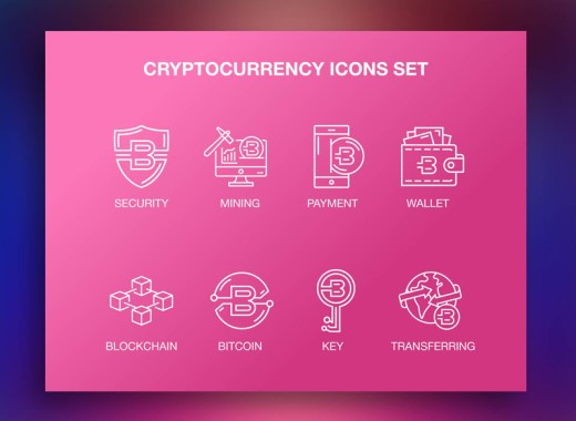 Cryptocurrency Icon Set Free