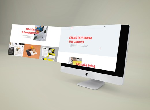 iMac Perspective Extended Screen Mockup