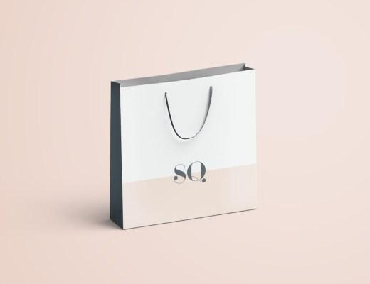 Free paper bag mockup PSD