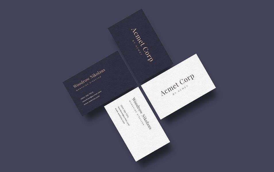 Minimal Business Card Design Free AI | Creative Sofa
