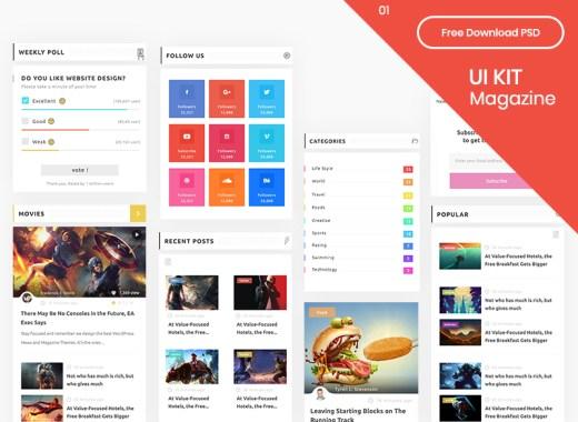 Free Magazine App UI Kit