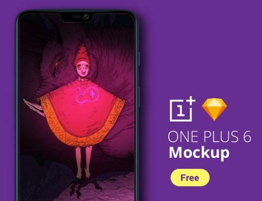 One Plus 6 Mockup Free Download