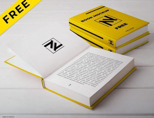 Hard Cover Book Mockup