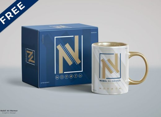 free mug mockup download