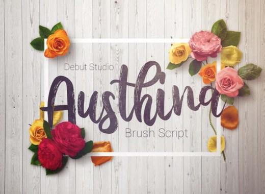 austina free font
