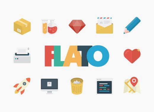 Free Flat Icons Set Flato