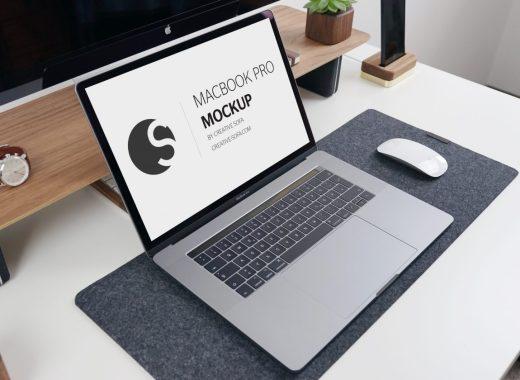 Photorealistic Macbook Pro 2018 Mockup