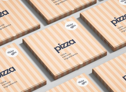 Simple Pizza Box Mockup