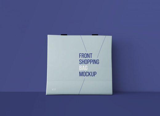 Front Shopping Bag Mockup