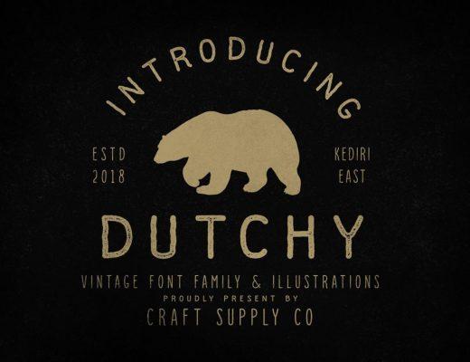 Free Vintage Font Dutchy