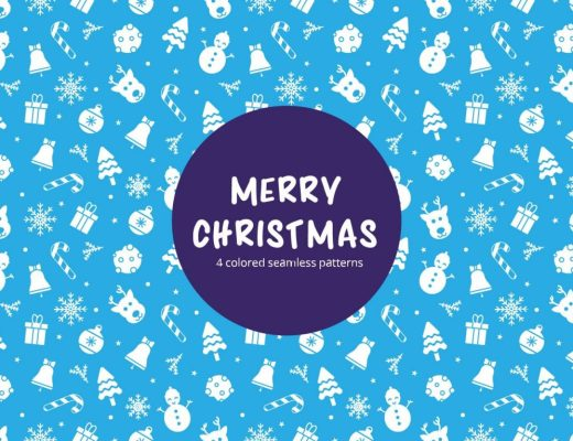 Merry Christmas Vector Free Seamless Pattern