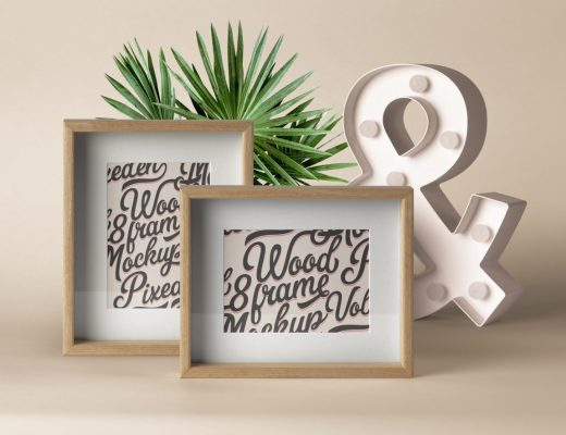 Psd Wood Frame Mockup Vol9