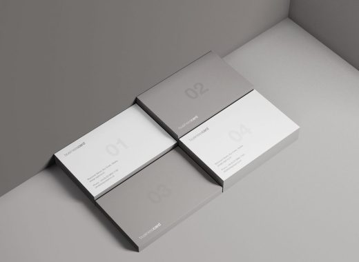 free minimal business card mockup