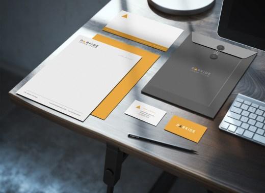 Free Identity Stationary Desk Mockup