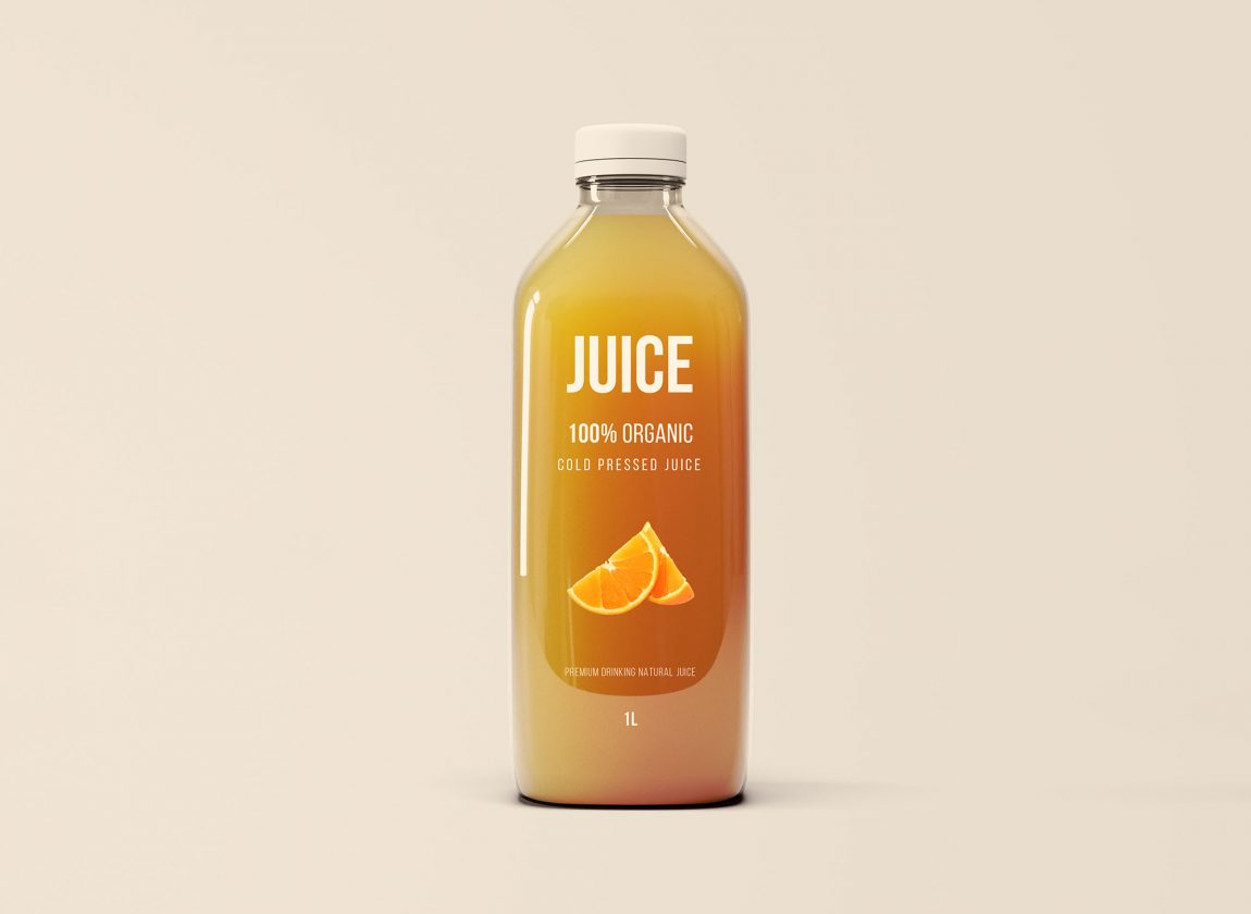Big Glass Juice Bottle Mockup