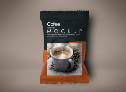 Coffee Package Free PSD Mockup
