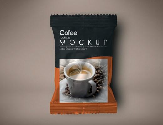 Coffee Package Free PSD Mockup