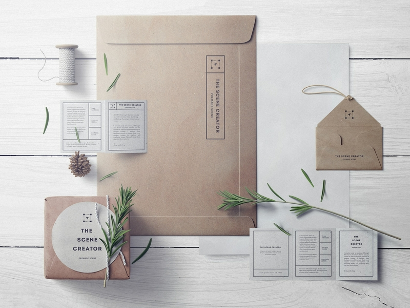 Free Craft Branding Mockup Set PSD